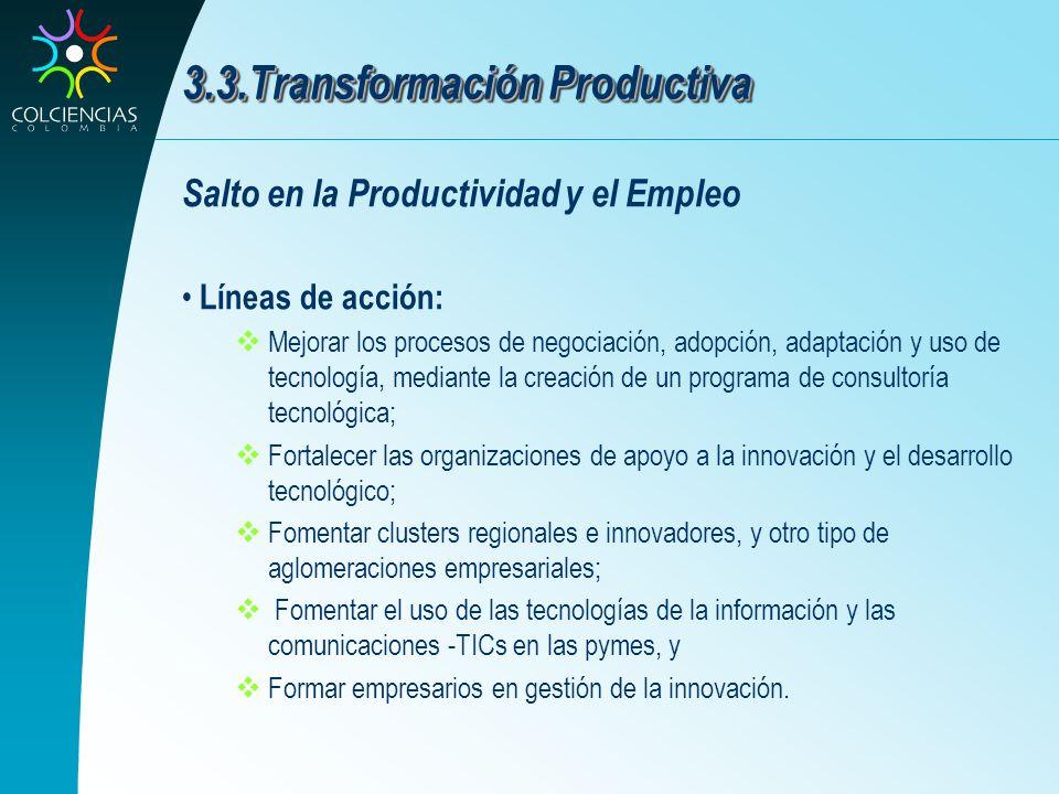 3.3.Transformación Productiva