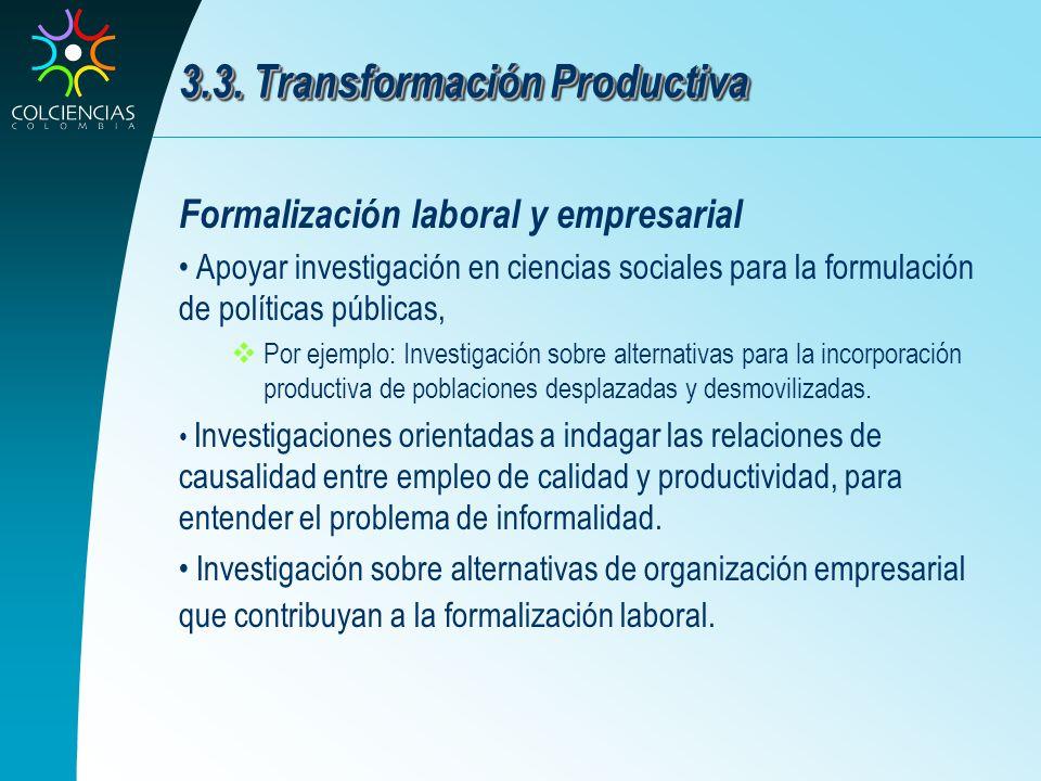 3.3. Transformación Productiva