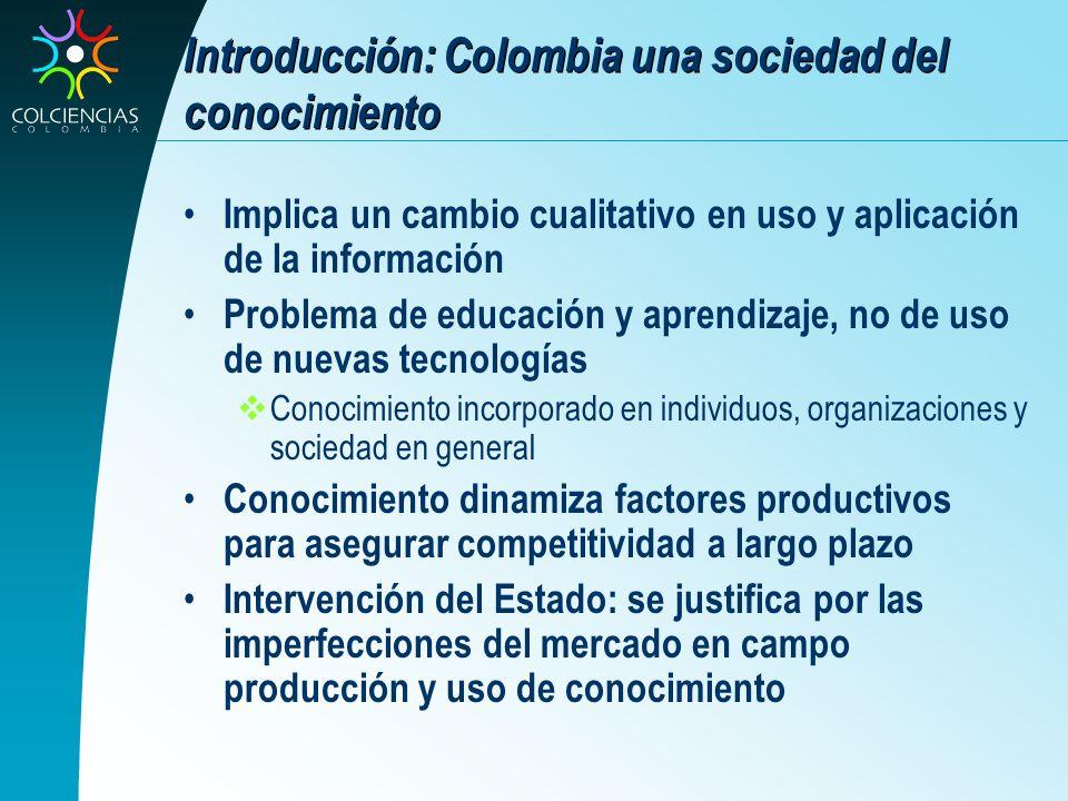 Introducción: Colombia una sociedad del conocimiento