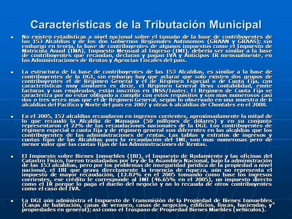 Características de la Tributación Municipal