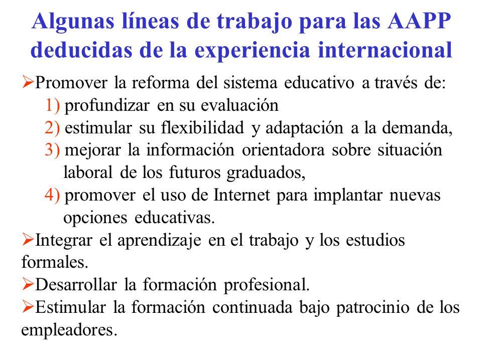 Algunas líneas de trabajo para las AAPP deducidas de la experiencia internacional