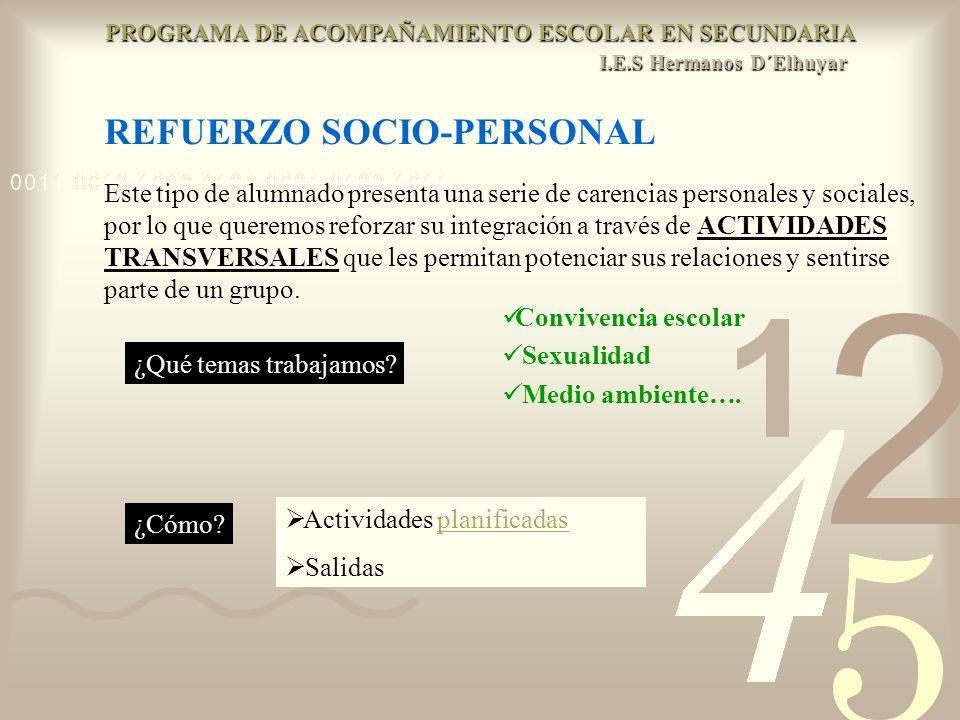 REFUERZO SOCIO-PERSONAL