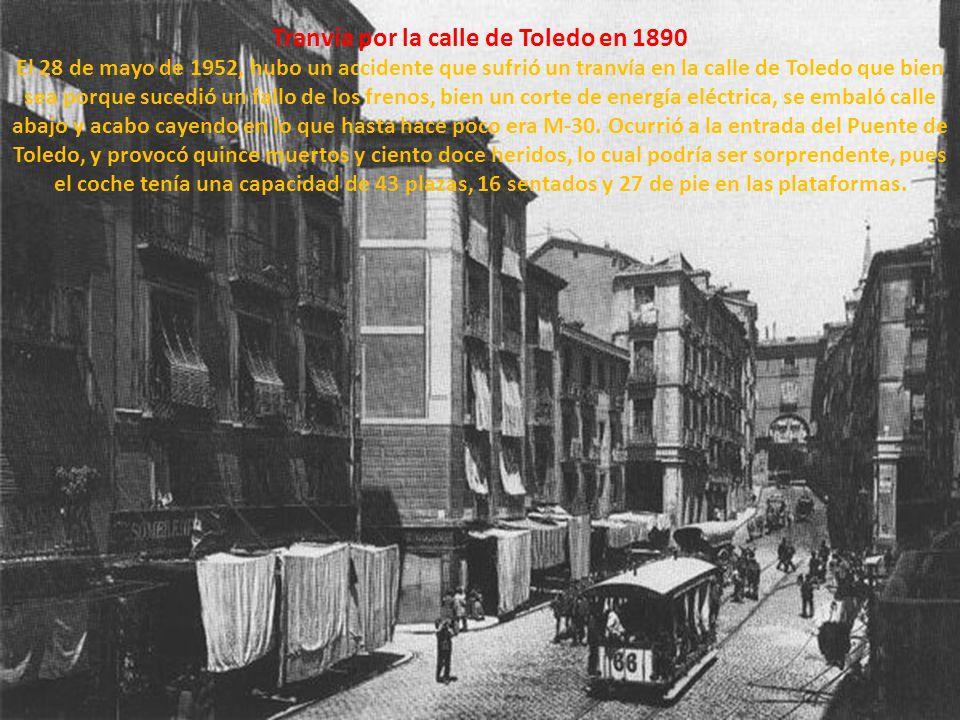 Tranvía por la calle de Toledo en 1890