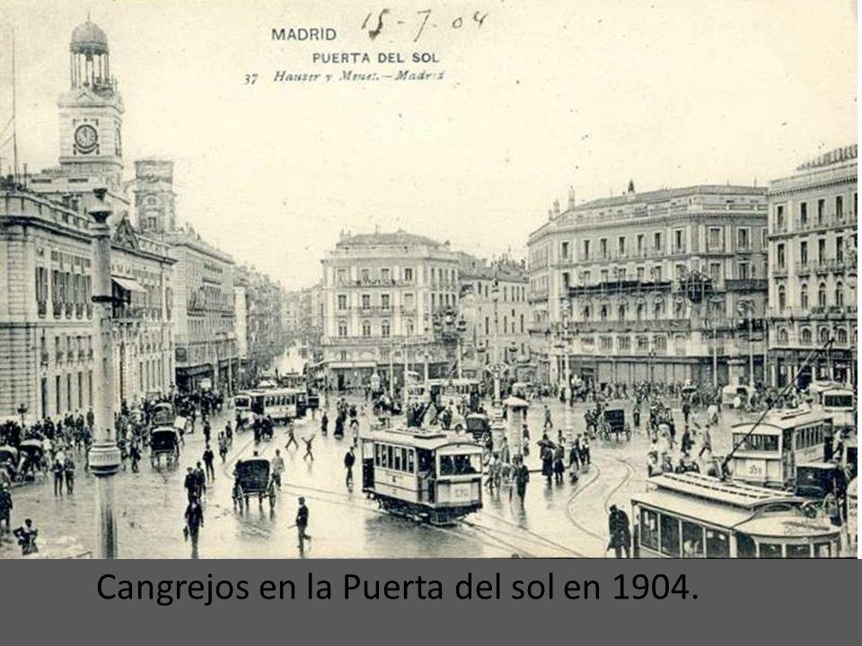 Cangrejos en la Puerta del sol en 1904.
