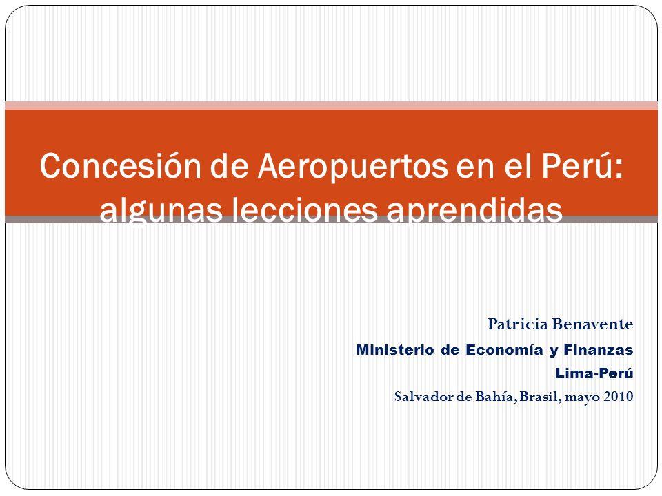 Concesión de Aeropuertos en el Perú: algunas lecciones aprendidas