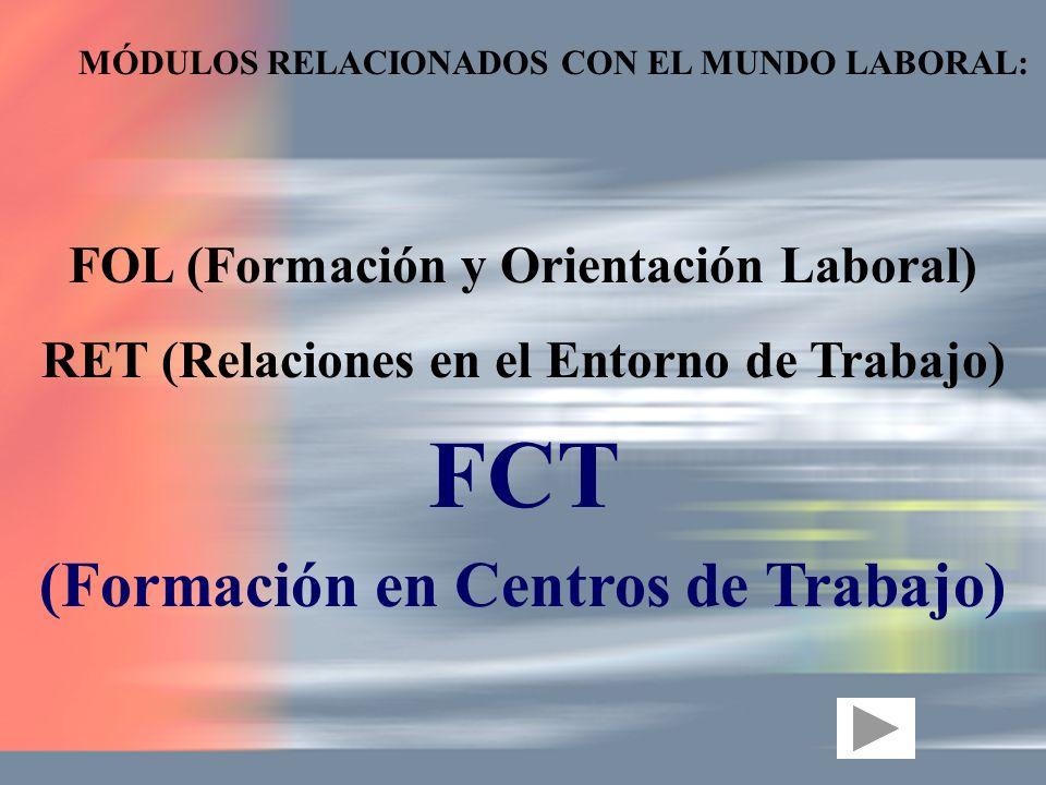 FCT (Formación en Centros de Trabajo)