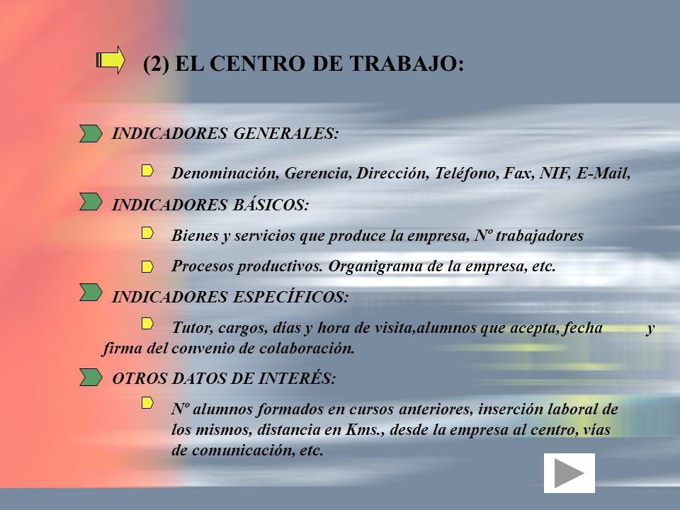 (2) EL CENTRO DE TRABAJO: