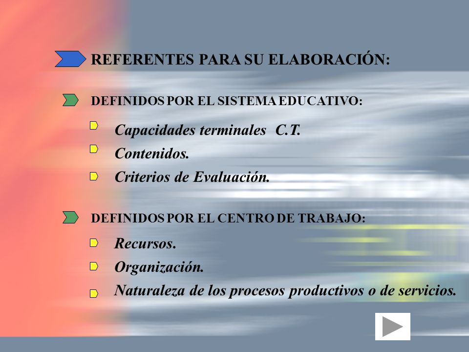 REFERENTES PARA SU ELABORACIÓN:
