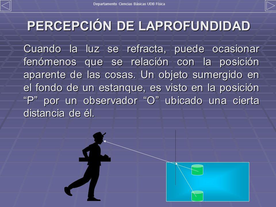PERCEPCIÓN DE LAPROFUNDIDAD
