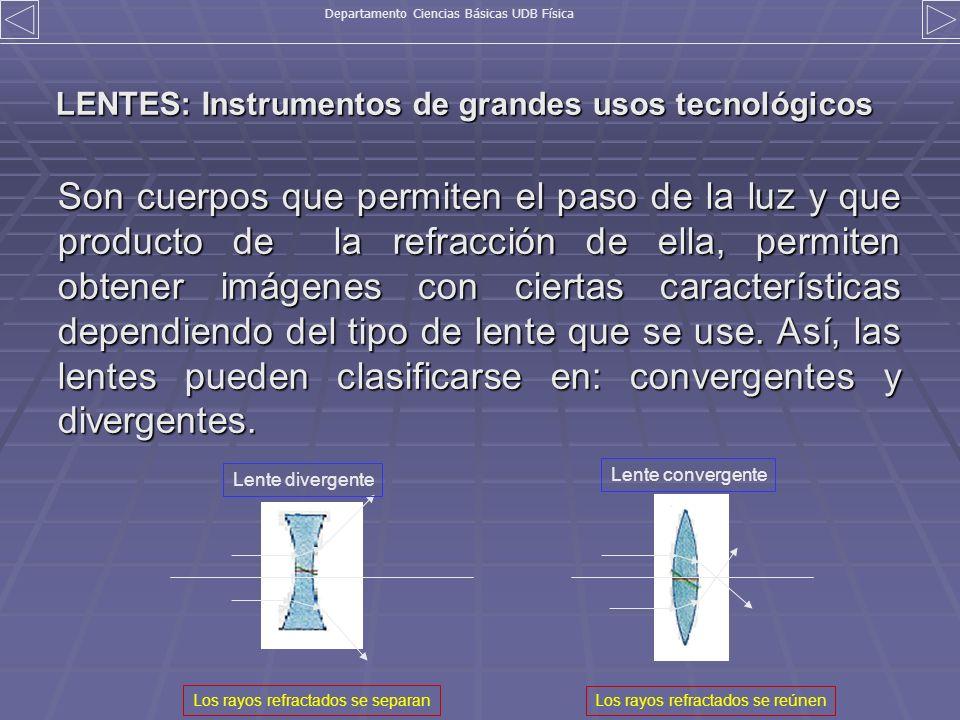 LENTES: Instrumentos de grandes usos tecnológicos