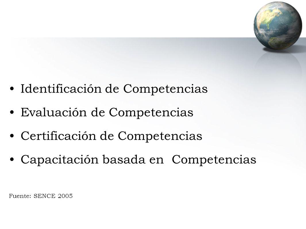Identificación de Competencias Evaluación de Competencias
