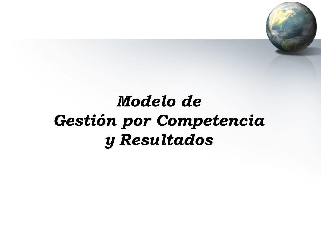 Modelo de Gestión por Competencia y Resultados