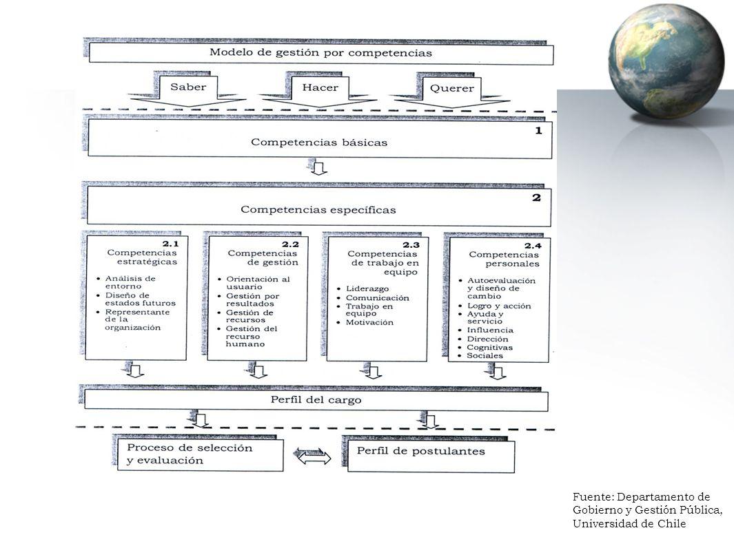 Fuente: Departamento de Gobierno y Gestión Pública, Universidad de Chile