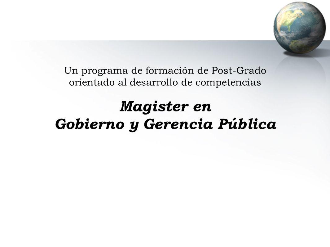Gobierno y Gerencia Pública
