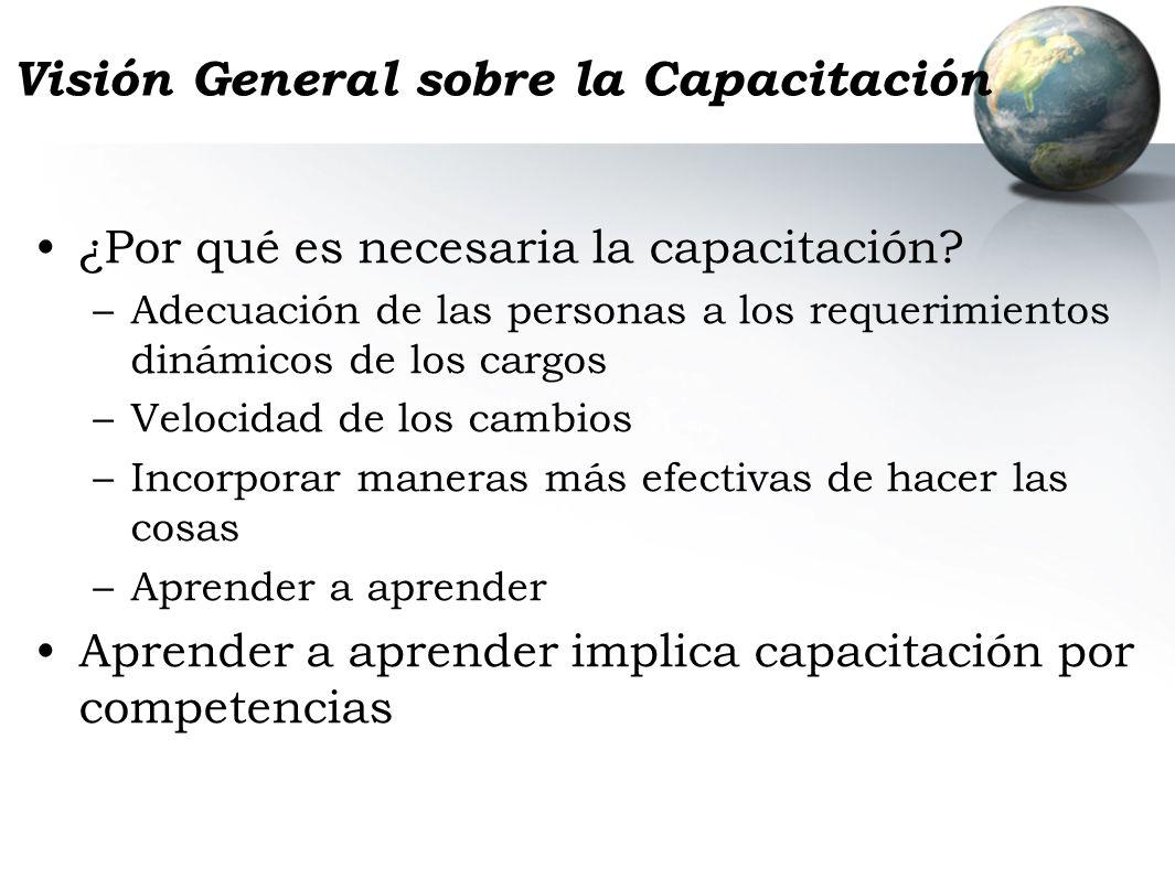 Visión General sobre la Capacitación
