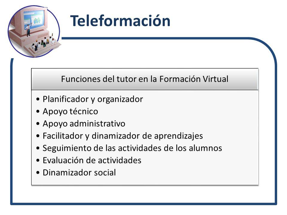 Funciones del tutor en la Formación Virtual