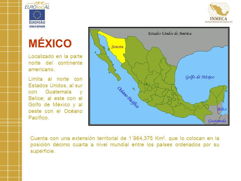 MÉXICO Localizado en la parte norte del continente americano.