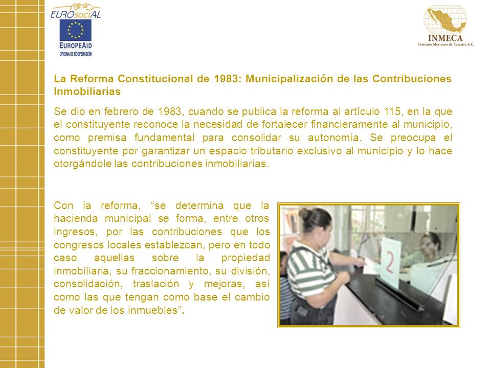 La Reforma Constitucional de 1983: Municipalización de las Contribuciones Inmobiliarias