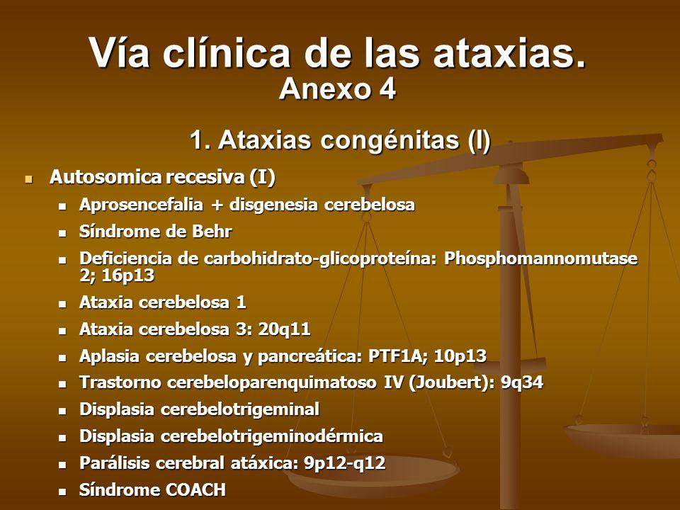 1. Ataxias congénitas (I)
