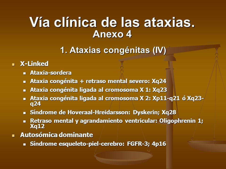 1. Ataxias congénitas (IV)