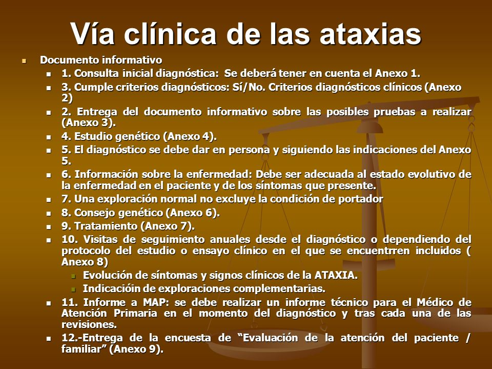 Vía clínica de las ataxias