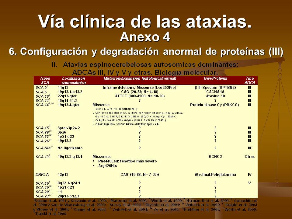 6. Configuración y degradación anormal de proteínas (III)