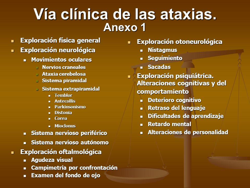 Vía clínica de las ataxias. Anexo 1