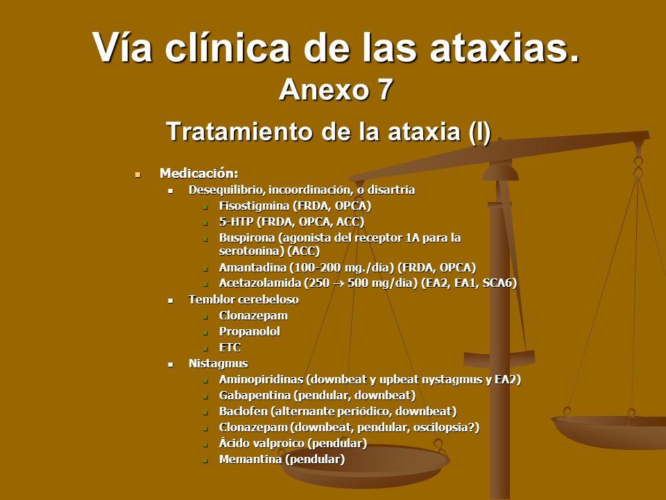 Tratamiento de la ataxia (I)