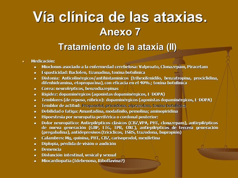Tratamiento de la ataxia (II)