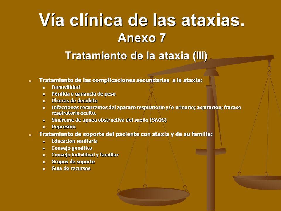 Tratamiento de la ataxia (III)