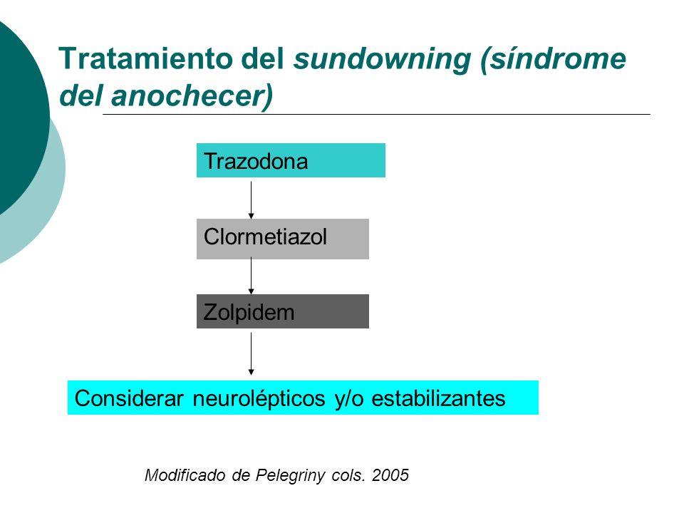 Tratamiento del sundowning (síndrome del anochecer)