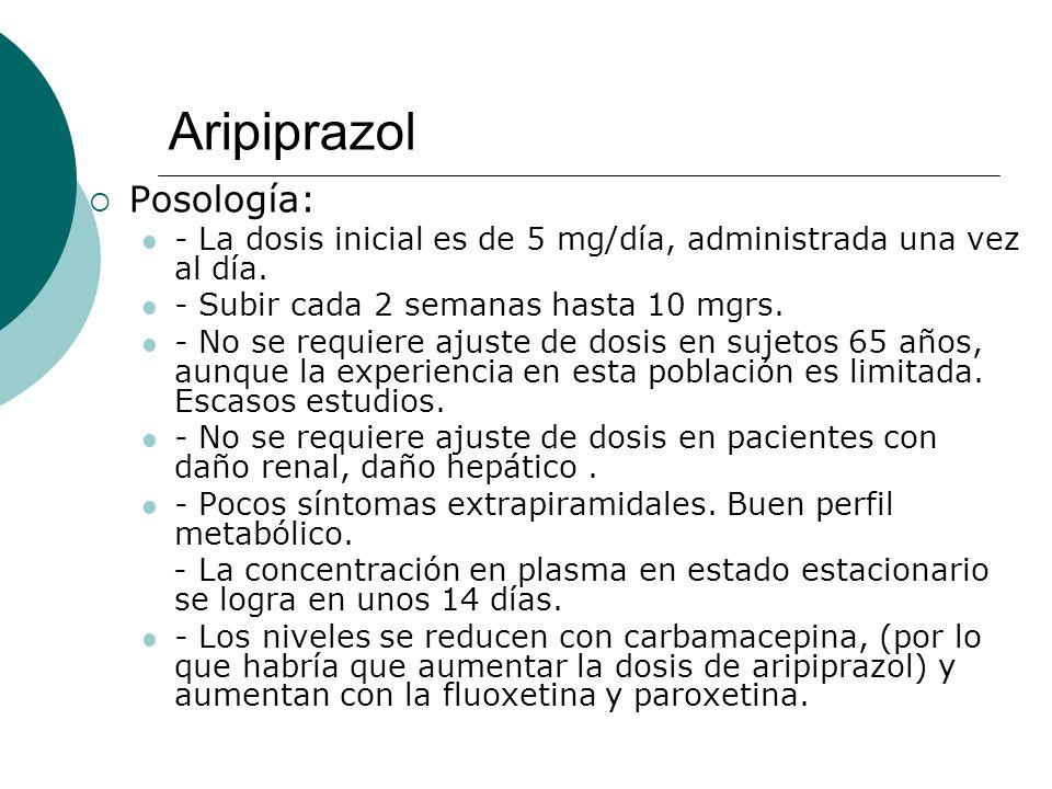 Aripiprazol Posología: