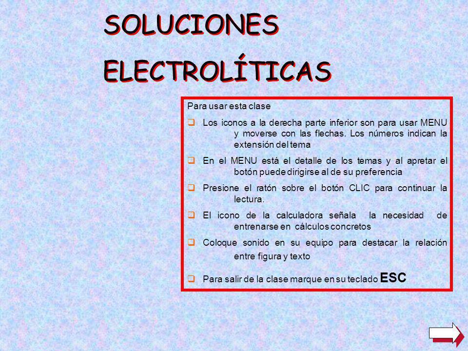 SOLUCIONES ELECTROLÍTICAS Para usar esta clase