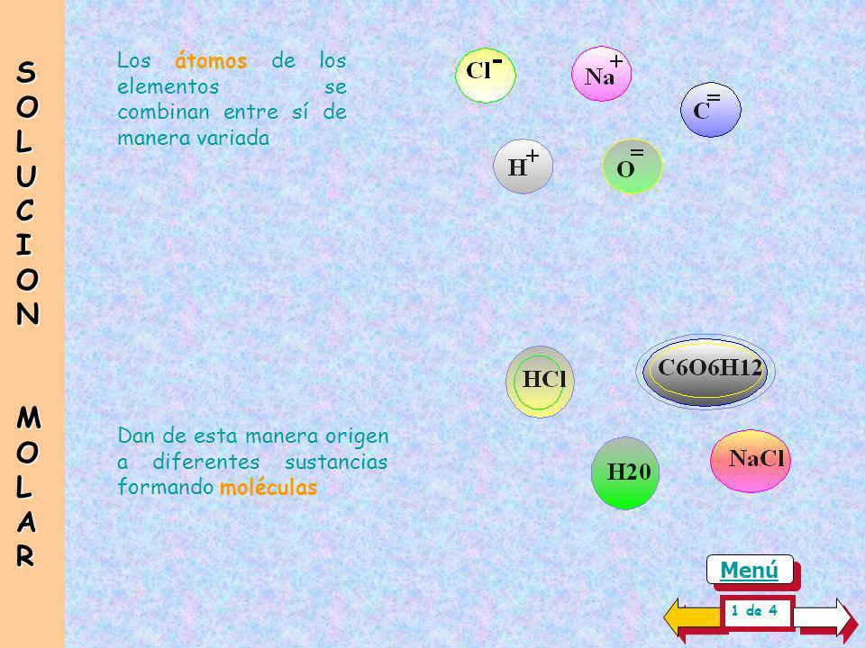 Los átomos de los elementos se combinan entre sí de manera variada