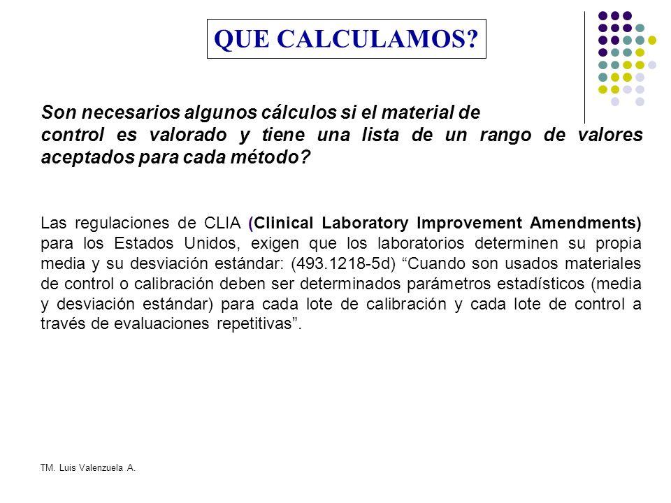 QUE CALCULAMOS Son necesarios algunos cálculos si el material de