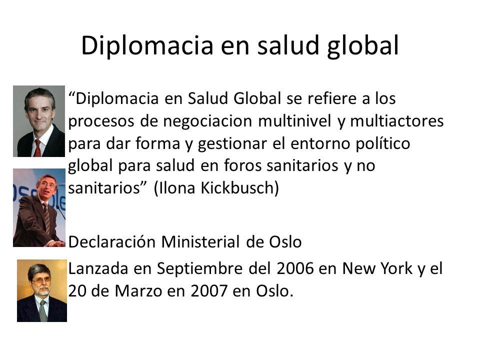 Diplomacia en salud global