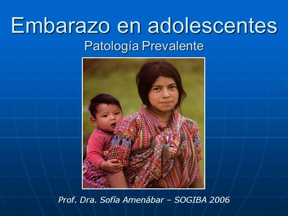 Embarazo en adolescentes Patología Prevalente
