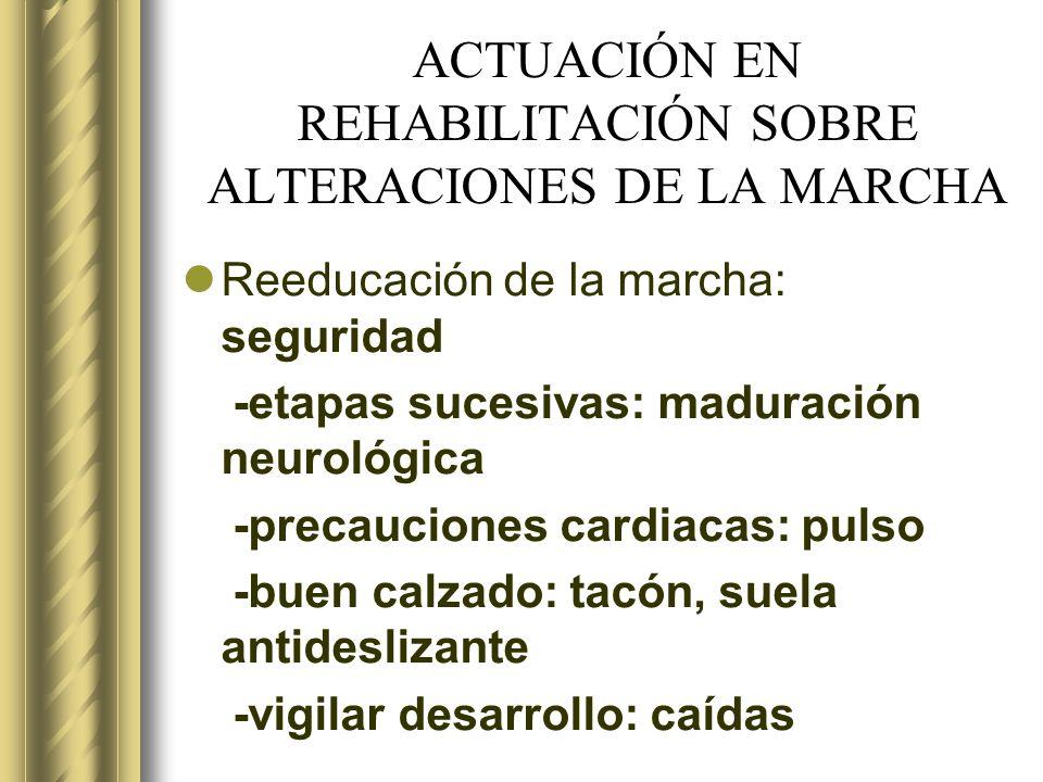 ACTUACIÓN EN REHABILITACIÓN SOBRE ALTERACIONES DE LA MARCHA