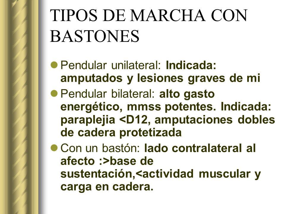 TIPOS DE MARCHA CON BASTONES