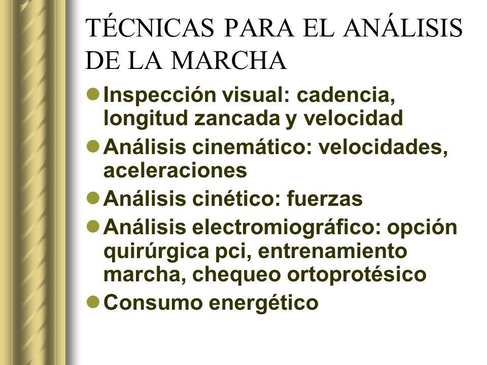 TÉCNICAS PARA EL ANÁLISIS DE LA MARCHA