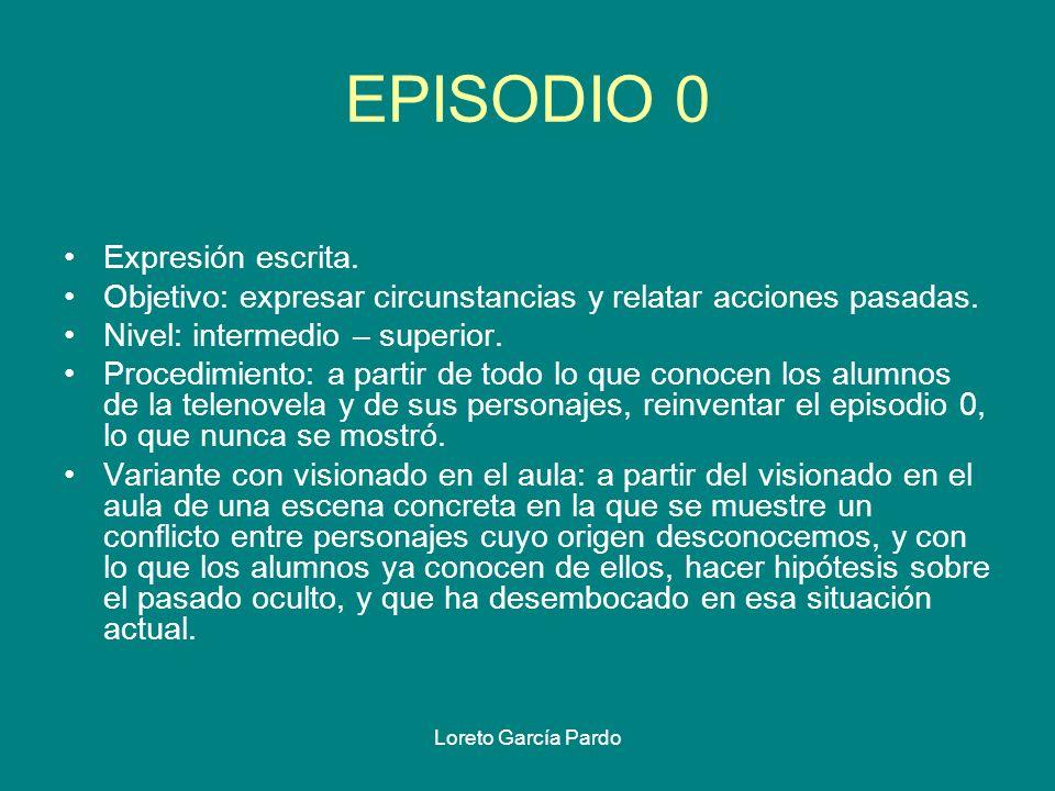 EPISODIO 0 Expresión escrita.