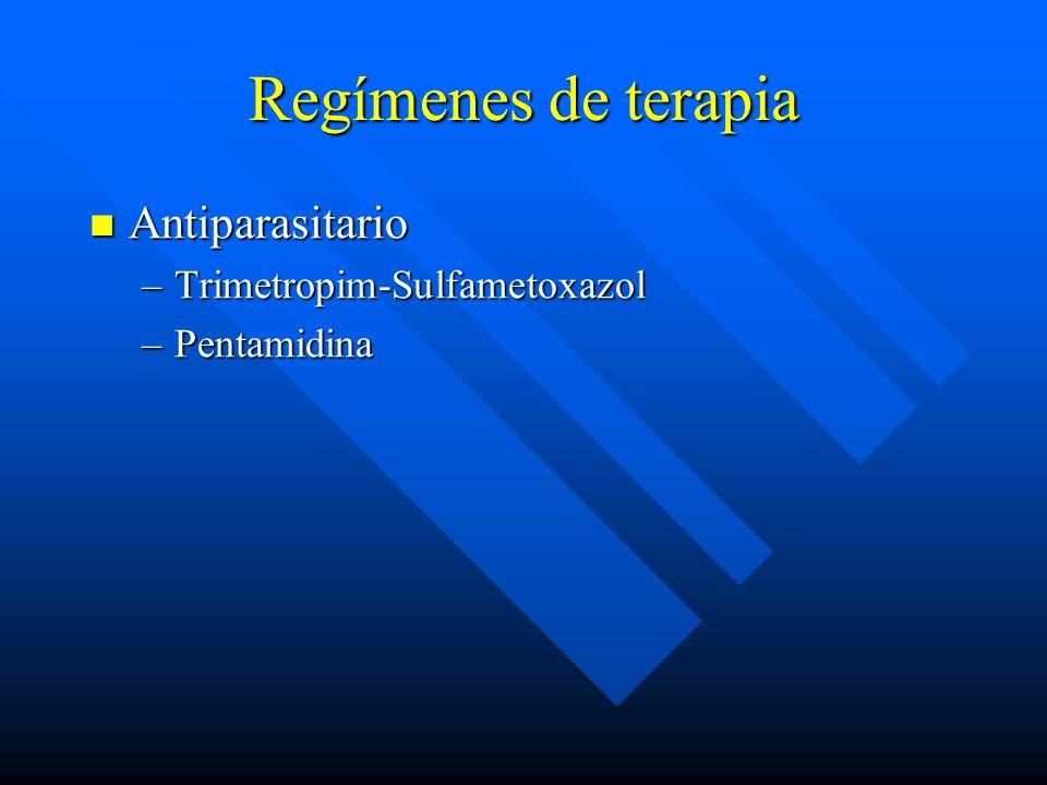 Regímenes de terapia Antiparasitario Trimetropim-Sulfametoxazol