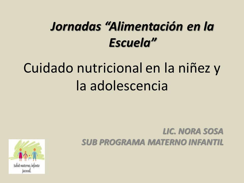Cuidado nutricional en la niñez y la adolescencia