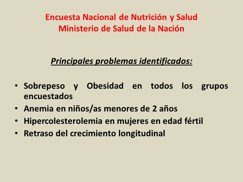 Principales problemas identificados: