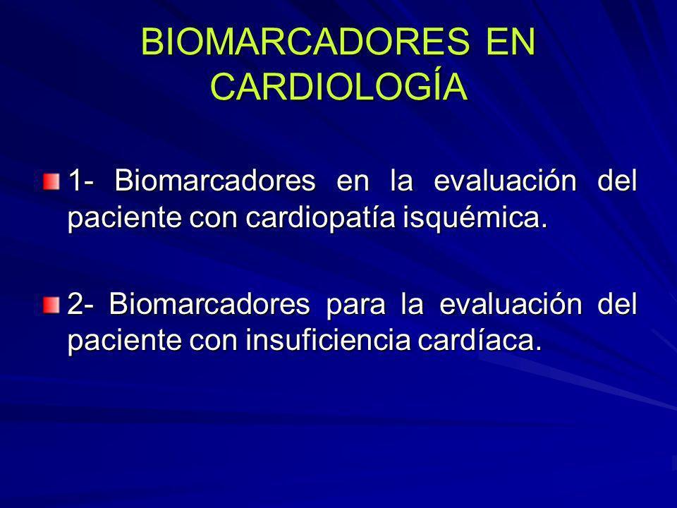BIOMARCADORES EN CARDIOLOGÍA