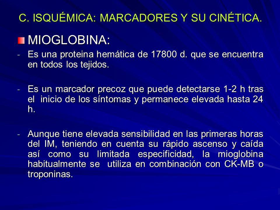 C. ISQUÉMICA: MARCADORES Y SU CINÉTICA.
