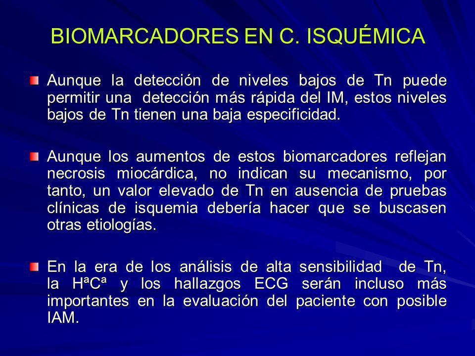 BIOMARCADORES EN C. ISQUÉMICA