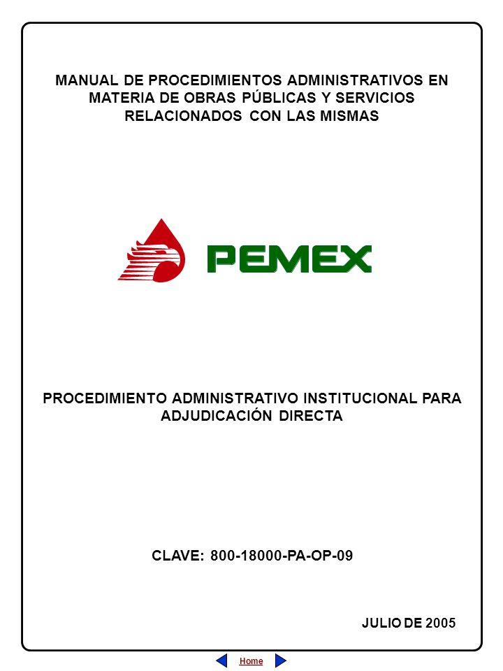 PROCEDIMIENTO ADMINISTRATIVO INSTITUCIONAL PARA ADJUDICACIÓN DIRECTA