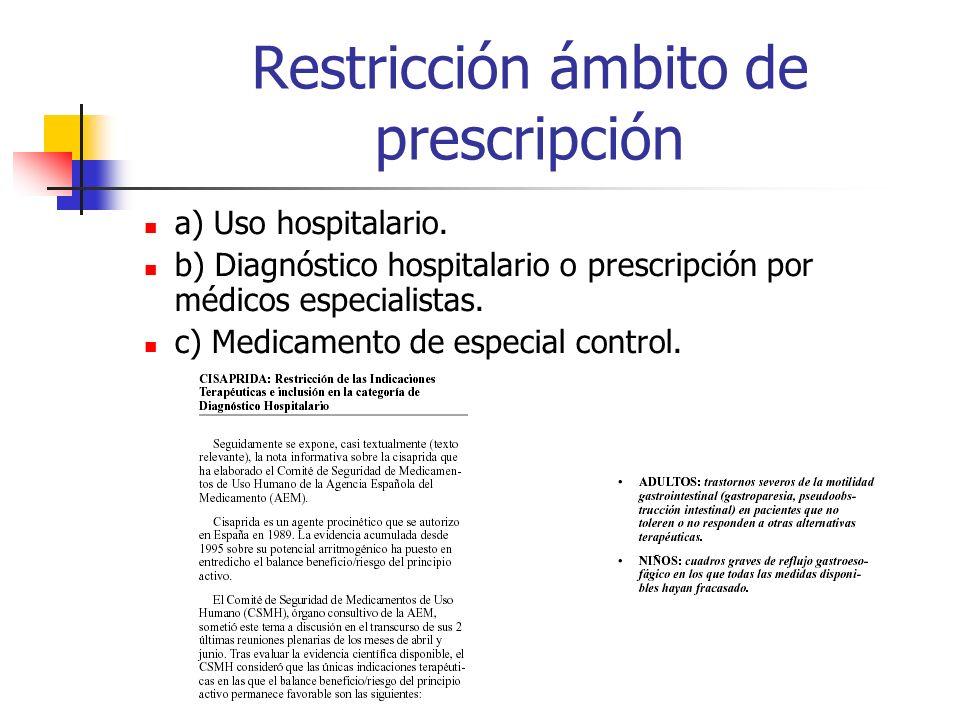 Restricción ámbito de prescripción