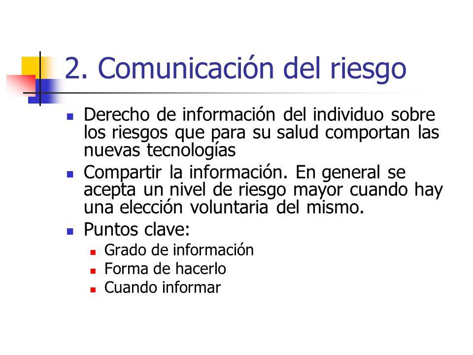 2. Comunicación del riesgo